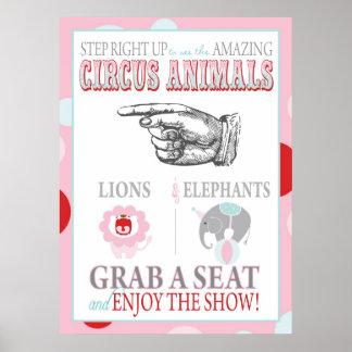 Circus Animal Show Sign Carnival Circus Birthday L