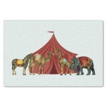 Circus Animals And Tent Tissue Paper
