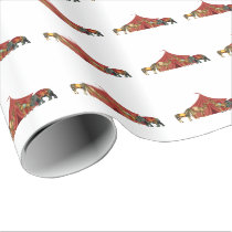 Circus Animals And Tent Wrapping Paper