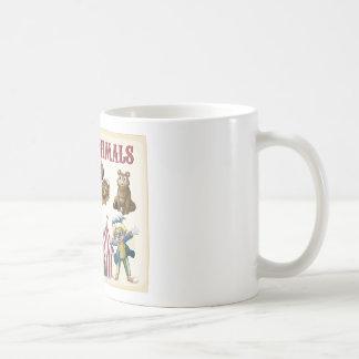 Circus animals classic white coffee mug