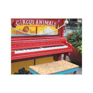 Circus Animals Piano Canvas Print