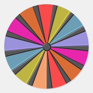 Circus Art - Big Top Pinwheel Classic Round Sticker