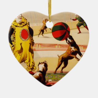 circus art ceramic ornament