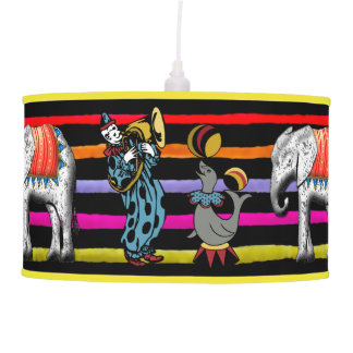 Circus Art - Clown and Seal Pendant Lamps