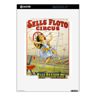 circus art decals for iPad 2