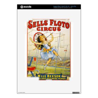 circus art iPad 3 decal