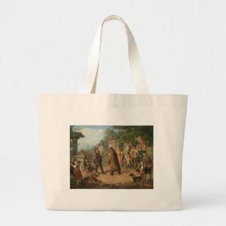 circus art large tote bag
