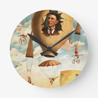 circus art round clock
