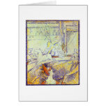 Circus art sketch by Seurat pointillist paintings Cards