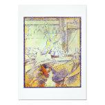 Circus art sketch by Seurat pointillist paintings Custom Announcement