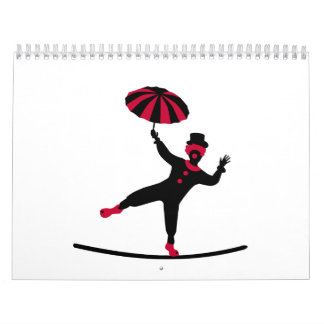 Circus artist clown calendar