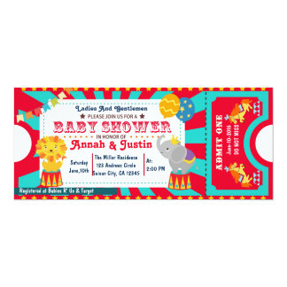 Circus baby shower invitation