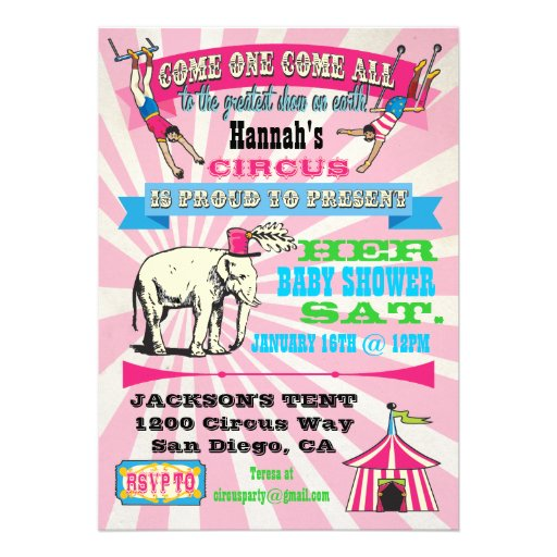 Circus Baby Shower Invitations could be nice ideas for your invitation template