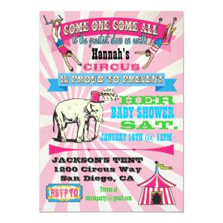 Circus Baby Shower Invitations