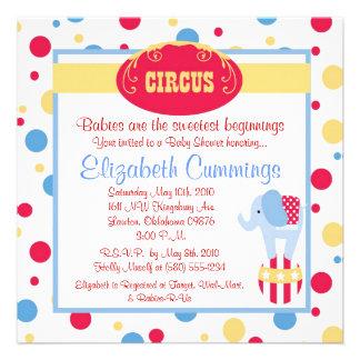 circus Baby Shower invite cute fun simple sweet