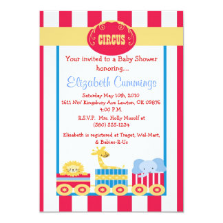 circus baby shower invite cute fun sweet simple