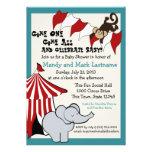 Circus Baby Shower Invites