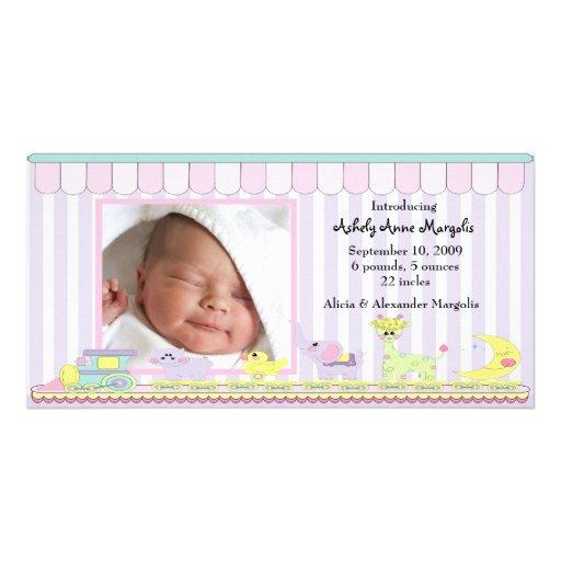 Circus Baby Train PHOTO Birth Announcement Photo Card