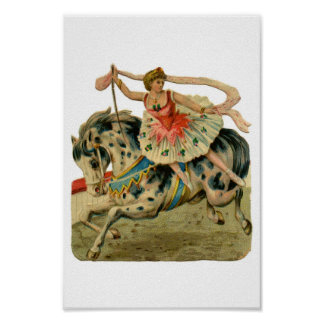 Circus Ballerina Girl Print