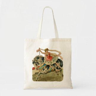Circus Ballerina on Horseback Canvas Bags