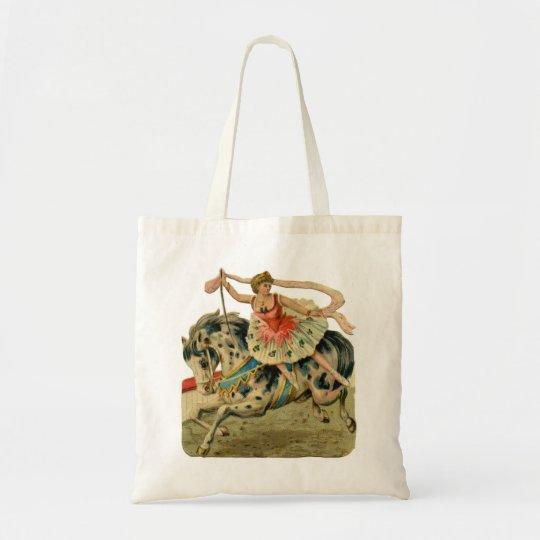 Circus Ballerina on Horseback Tote Bag