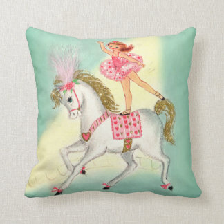 Circus Ballerina on Pony soft cushion