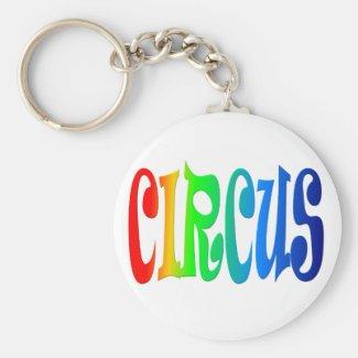 circus basic round button keychain