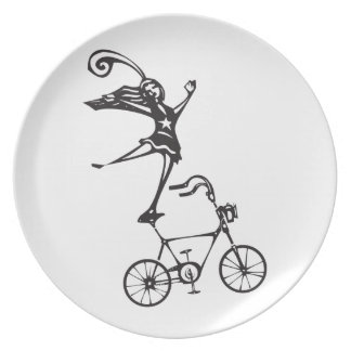 Circus Bicycle Dinner Plate