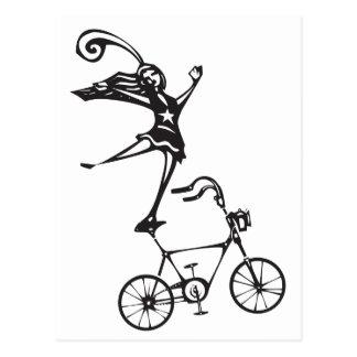 Circus Bicycle Postcard