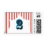 Circus Birthday - 2 Postage Stamp