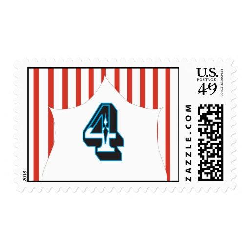 Circus Birthday - 4 Stamp