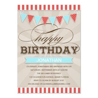 "CIRCUS BIRTHDAY | CHILDREN'S BIRTHDAY INVITATIONS 5"" X 7"" INVITATION CARD"