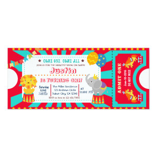 Circus Birthday Invitations Announcements Zazzle