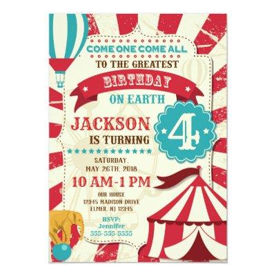 Carnival Birthday Party Invitations Zazzle Com