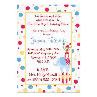 circus birthday party invite cute fun sweet simple