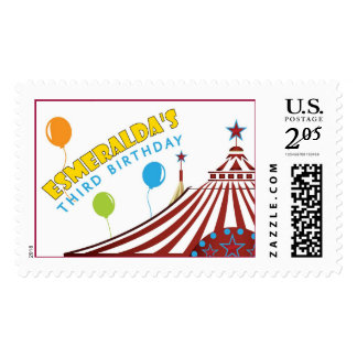Circus Birthday Party Postage