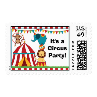 Circus Birthday Party Postage Stamp