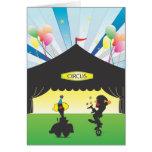 Circus Blank Greeting Card