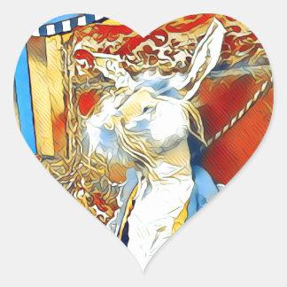 Circus Bunny Heart Sticker