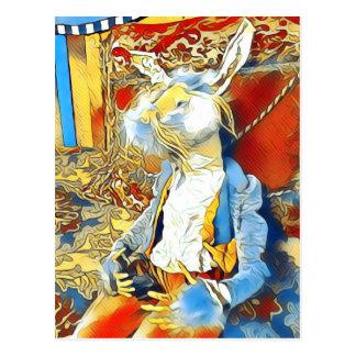 Circus Bunny Postcard