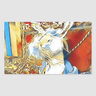 Circus Bunny Rectangular Sticker