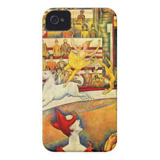 Circus by Georges Seurat iPhone 4 Case