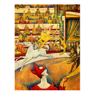 Circus by Georges Seurat Postcard
