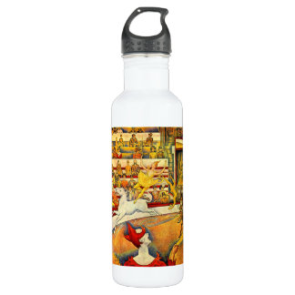 Circus by Georges Seurat Stainless Steel Water Bottle