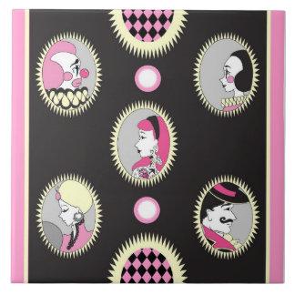 Circus Cameo Ceramic Tile or Coaster
