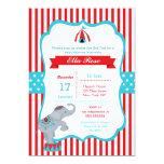 Circus Carnival Big Top Baby Shower Invitations