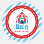 Circus Carnival Birthday Baby Shower Classic Round Sticker