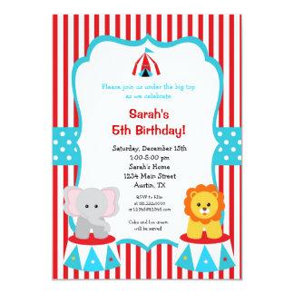 Circus Carnival Birthday Invitations