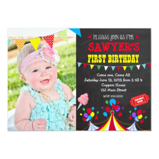circus birthday invitations  announcements  zazzle, Birthday invitations