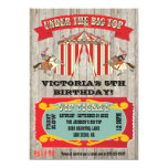 "Circus Carnival Birthday Party Invitation 5"" X 7"" Invitation Card"